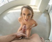 Alexis Adams gets her tits covered in cum