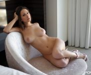 Ashley Adams naked on the couch