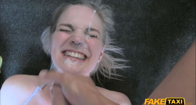 Carly gets her face covered in jizz