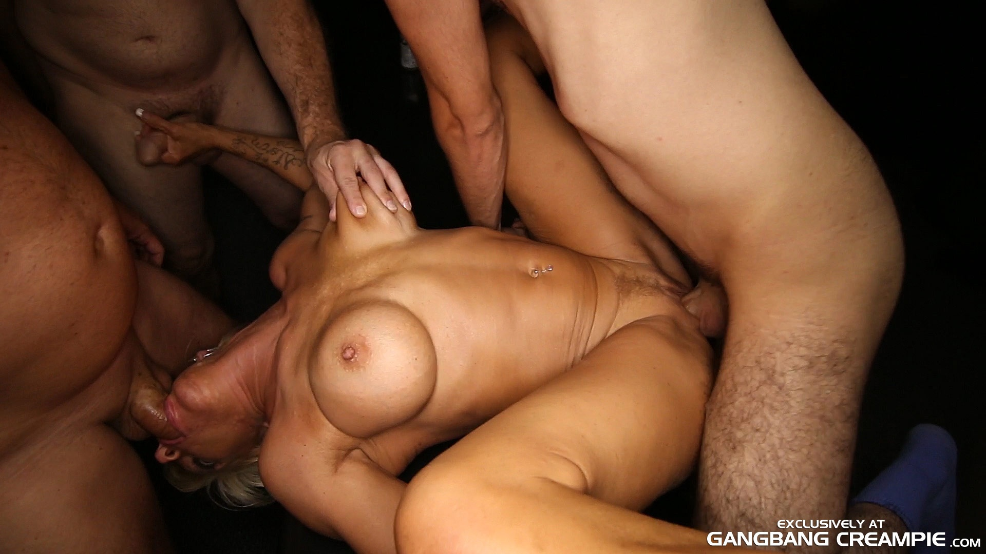 creampie gang bang