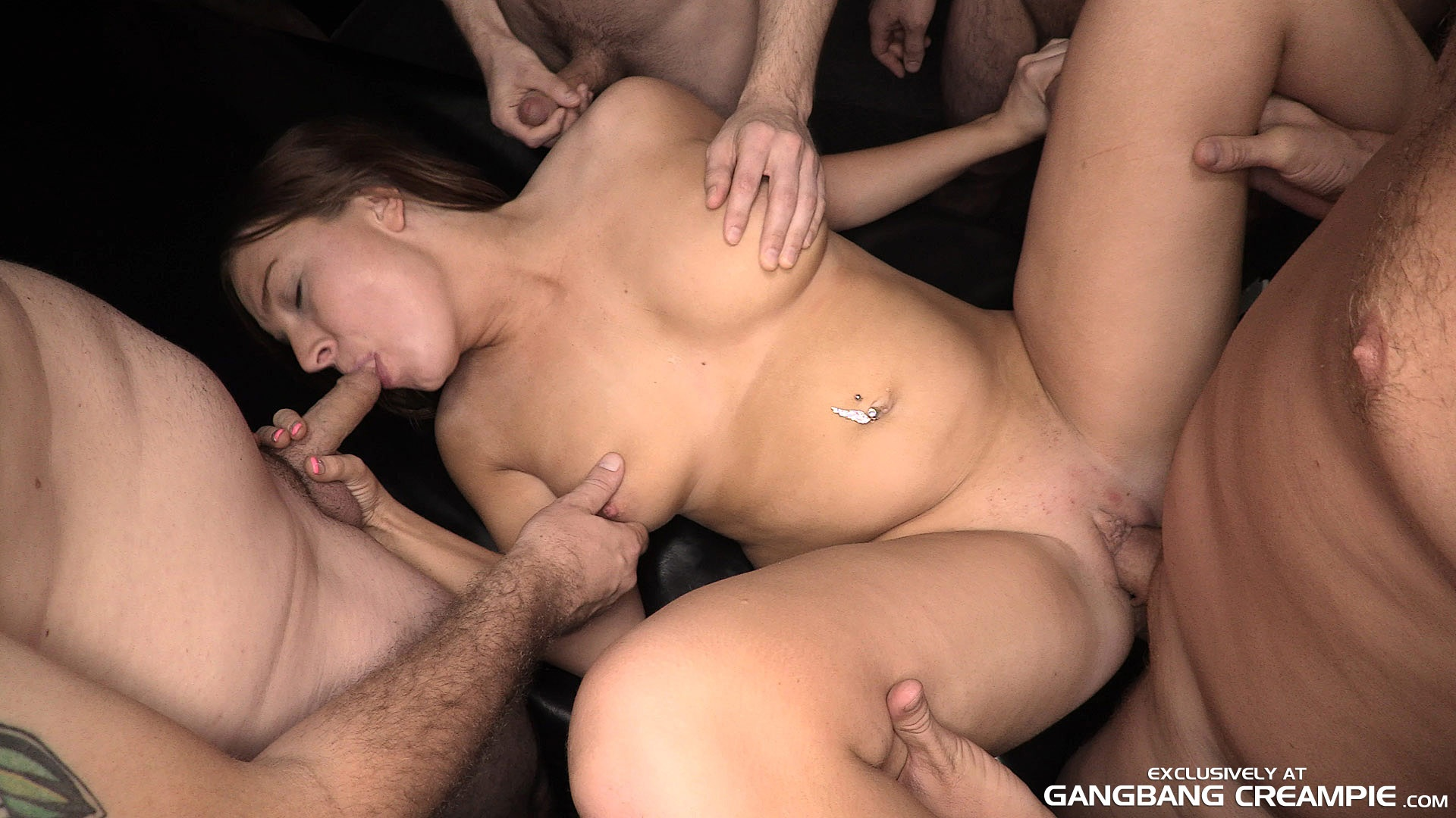 Amateur milf gang bang