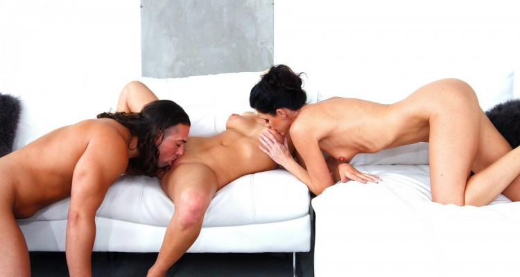Kate England and India three-way sex scene