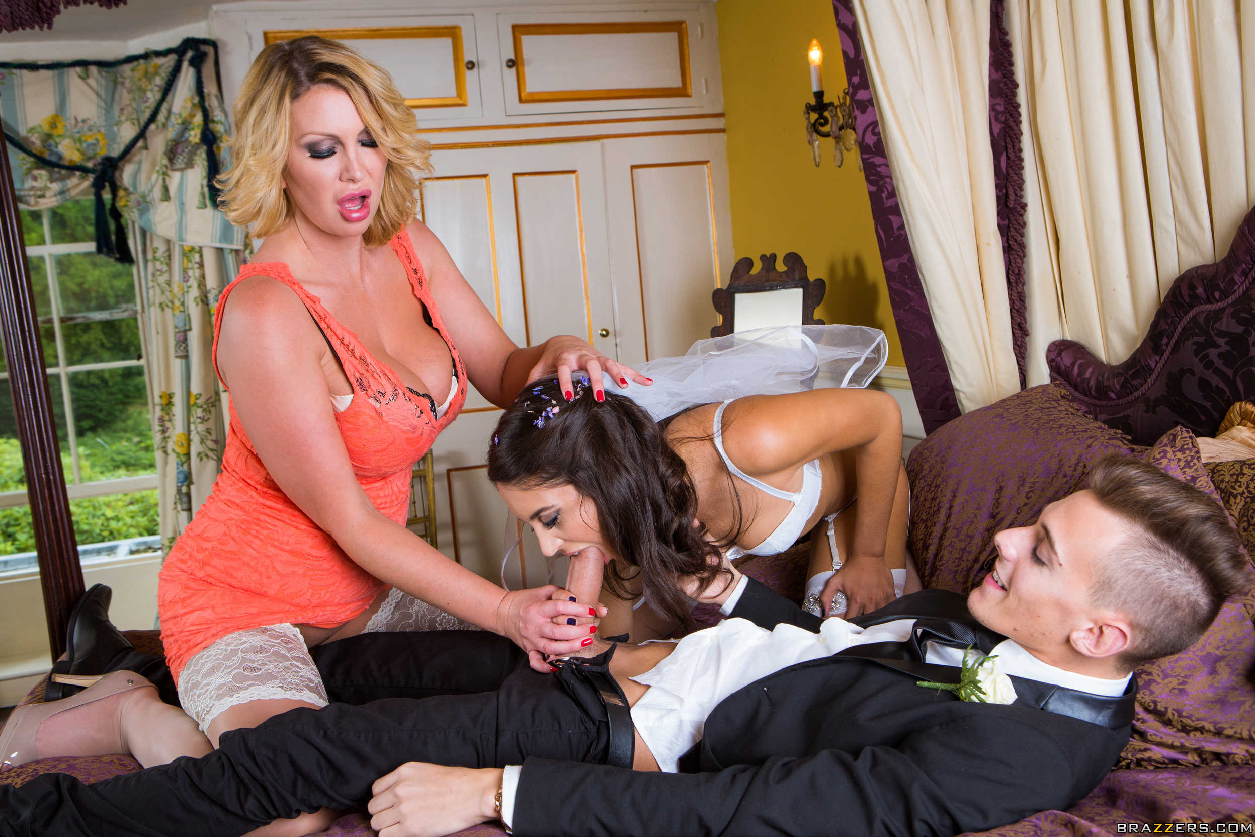 threesome step daughter