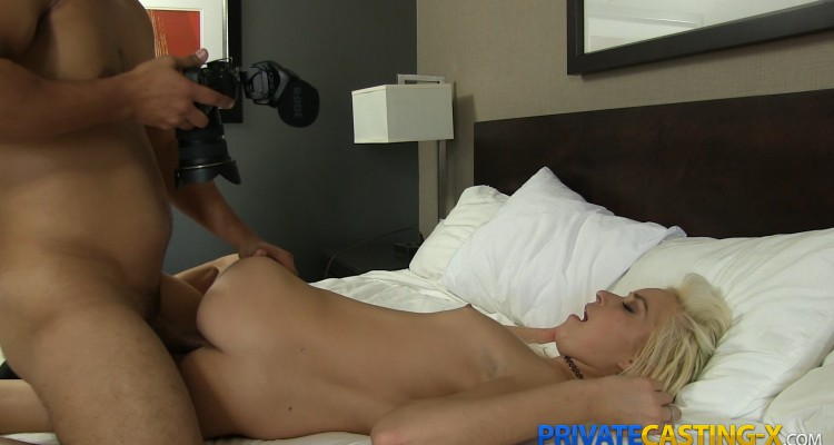 blonde babe Kylee at PrivateCasting-X
