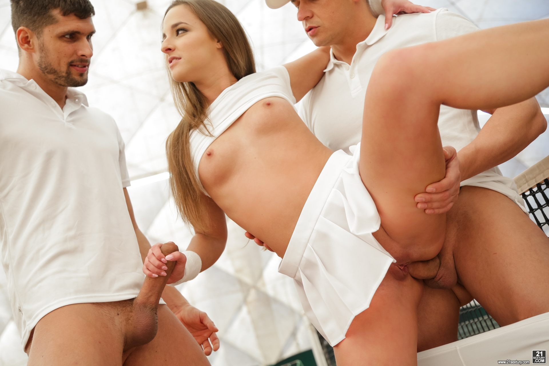 image Cayenne klein gets double teamed after showing off sphincter