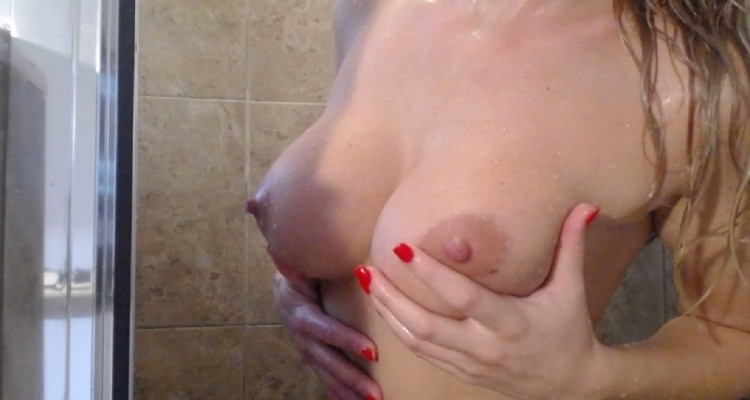 Natasha Adams naked in the shower
