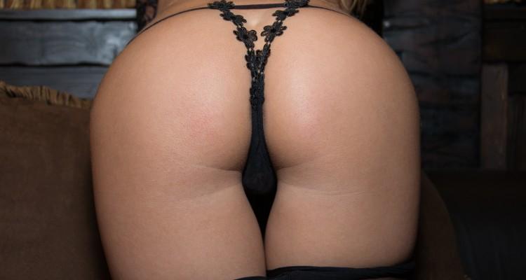 Close-up shot of Emma's ass