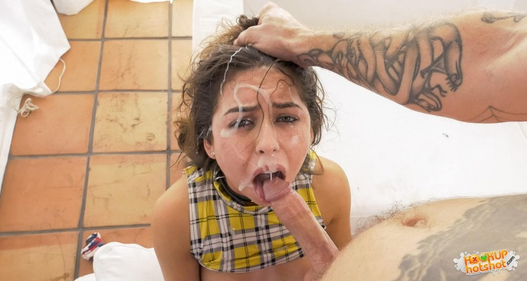 Melissa Moore receives a humiliating facial