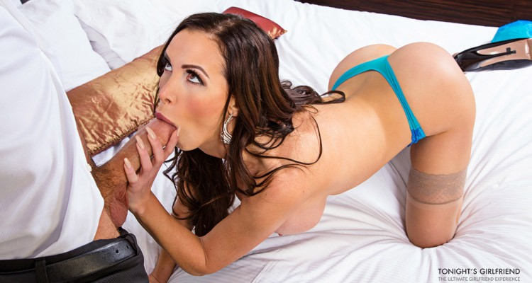 Nikki Benz goes to work on his big cock