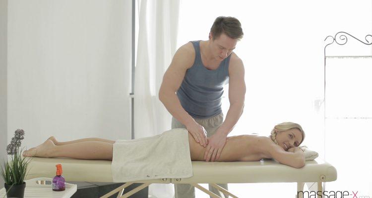 Jessi enjoying her massage