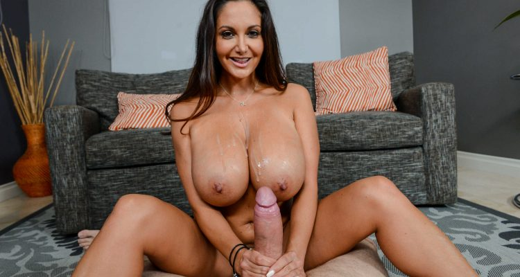 Ava Addams gets her tits covered in cum