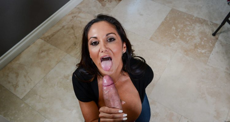 Ava Addams gives him a blowjob he will never forget