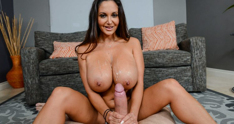 Ava Addams breasts are covered in cum